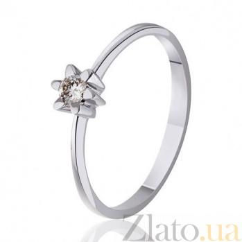 Кольцо из белого золота с бриллиантом Атланта EDM--КД7477/1