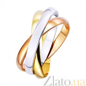 Золотое обручальное кольцо Тринити  TRF--4710510