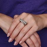 Золотое кольцо Ажурный мост с бриллиантами