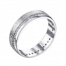 Обручальное серебряное кольцо с фианитами 000133407