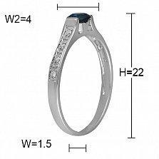 Кольцо Арктика из белого золота с бриллиантами и топазом