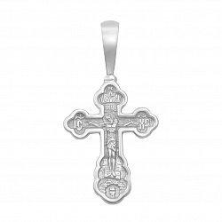 Серебряный крестик с молитвой на тыльной стороне 000126961