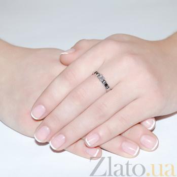 Золотое кольцо с бриллиантом Севилья R0455/бел