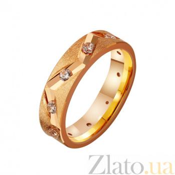 Золотое обручальное кольцо с фианитами Древний род TRF--4121227