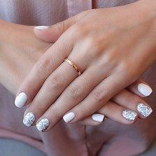 Минималистичное кольцо из красного золота Соты в геометрическом стиле