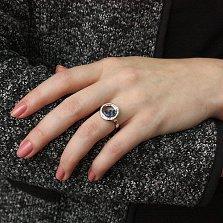 Серебряное кольцо Плавающие камни с синими и белыми фианитами