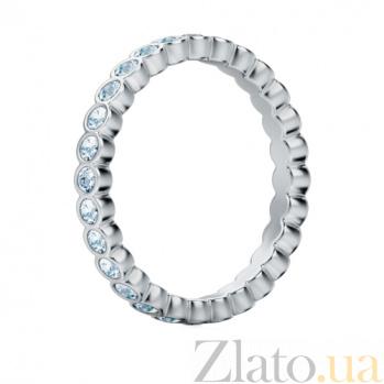 Обручальное кольцо из белого золота с бриллиантами Летний дождь 293