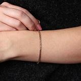Золотой браслет Нонна с алмазной насечкой, 3мм