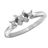 Кольцо из белого золота Ванесса с бриллиантами