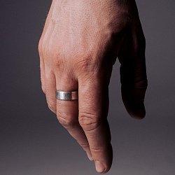 Кольцо из серебра Openness с чернением 000091405