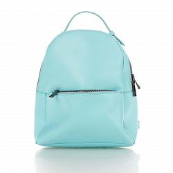 Кожаный рюкзак Genuine Leather 8988 бирюзового цвета с карманом на молнии