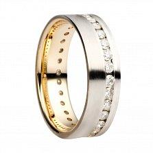 Обручальное кольцо с бриллиантами Шикарный выбор