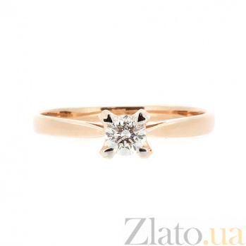 Кольцо из красного золота с бриллиантом Бахира 000021465