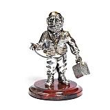 Серебряная статуэтка с позолотой Доктор