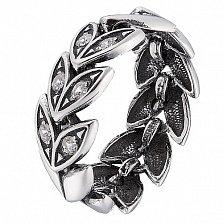 Серебряное кольцо Колос с фианитами