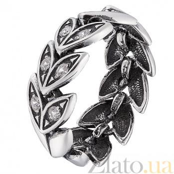 Серебряное кольцо Колос с фианитами 000017460