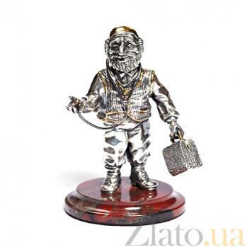 Серебряная статуэтка с позолотой Доктор 1052/док