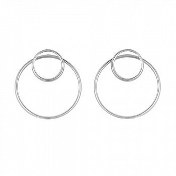 Сережки-пуссеты из серебра 000114160