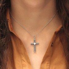 Серебряный декоративный крест Олимпия с каучуком внутри