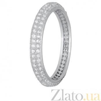 Серебряное кольцо Селима с цирконием 000028253