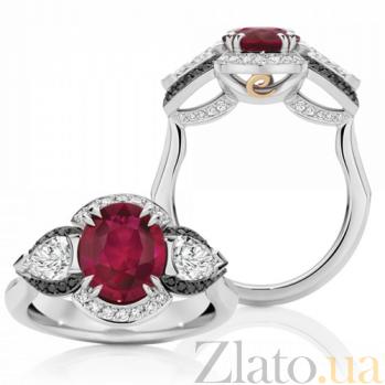 Кольцо Argile-Z с рубином, белыми и черными бриллиантами R-cjZ-W-1r-42d