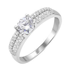 Серебряное кольцо с фианитами 000112715