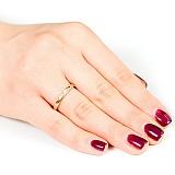Золотое обручальное кольцо с бриллиантом Нежность