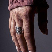 Кольцо из серебра Hunt с чернением