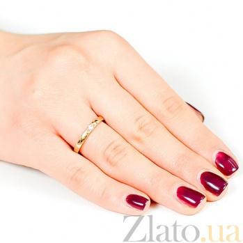 Золотое обручальное кольцо с бриллиантом Нежность 000001613