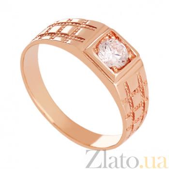 Золотое кольцо с фианитом Бастион 000024362