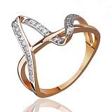 Золотое кольцо с цирконием Манхеттен