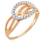 Золотое кольцо Мальва с фианитами