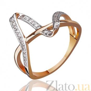 Золотое кольцо с цирконием Манхеттен EDM--КД0462