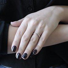 Обручальное кольцо Элегия в комбинированном цвете с насечкой по бокам