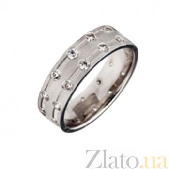 Золотое обручальное кольцо Ангельская любовь с фианитами TRF--4221090