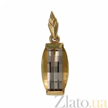 Золотой подвес с раухтопазом Афина 000030131