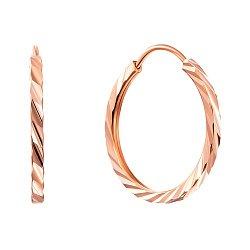 Серьги-кольца из красного золота, d15mm 000011450