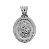 Серебряная ладанка Благословенная Мария и Сын