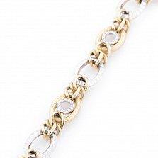 Золотой браслет Феофания с кристаллами циркония