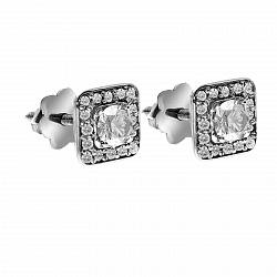 Серьги из белого золота Офелия с бриллиантами