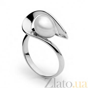 Кольцо из белого золота с жемчугом Динара SG--13131001/бел