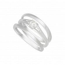 Кольцо в белом золоте Сондра с бриллиантом