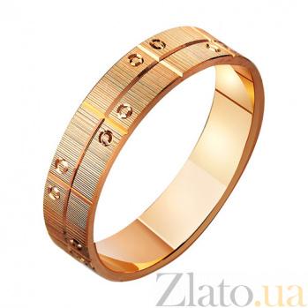 Золотое обручальное кольцо Модерное решение TRF--411069