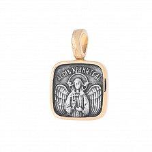 Серебряная ладанка Исцеление духа с позолотой и чернением