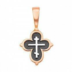 Серебряный крестик с позолотой и чернением 000134950