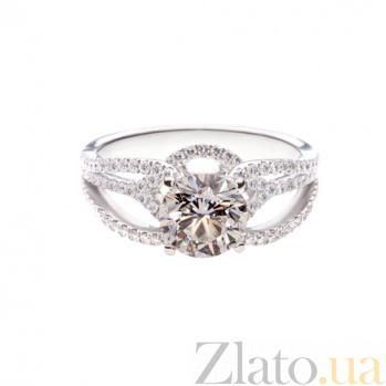 Золотое помолвочное кольцо с бриллиантами Ориана 1К051-0009