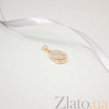 Золотой медальон Защитник в красном цвете под фотографии 000082501