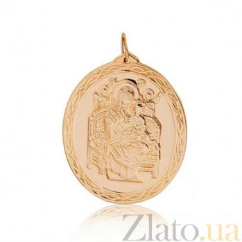 Ладанка из красного золота Всецарица EDM--П0142