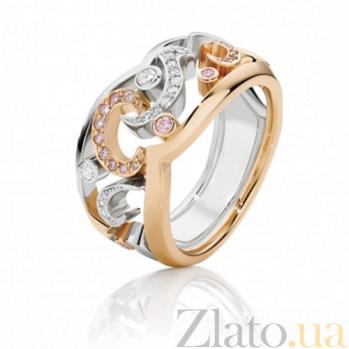 Кольцо Argile из белого и розового золота с бриллиантами и розовыми сапфирами R-cjAr-W/R-17s-16d