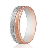 Золотое обручальное кольцо Прикосновение
